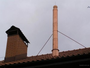 Дымоход от газового котла на крыше