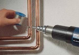 Монтаж медных труб для отопления