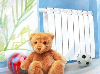 Отопления в интерьере детской комнаты