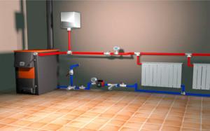Схематическое изображение системы отопления
