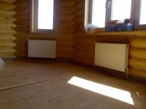 Отопление в частном доме из бревен