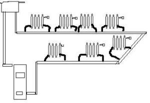 Вариант схемы отопления
