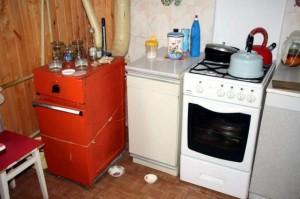 Установка отопления на кухне