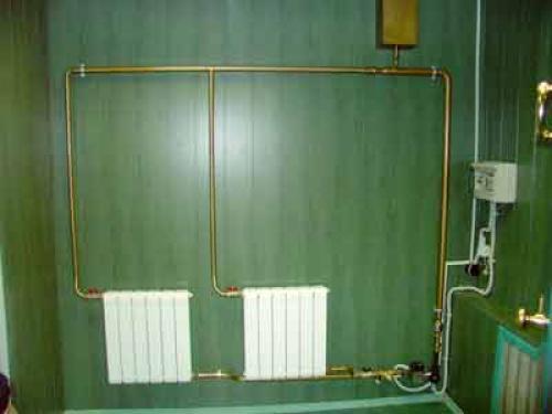 Отопление с двумя радиаторами