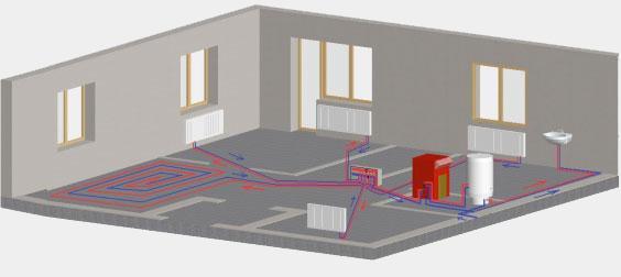 Разводка однотрубного отопления в комнате