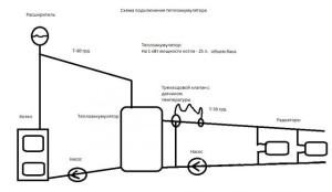 Вариант подключения теплоаккумулятора