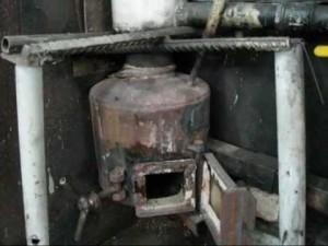 Отопление с помощью отработки