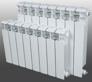 Белый радиатор биметаллический