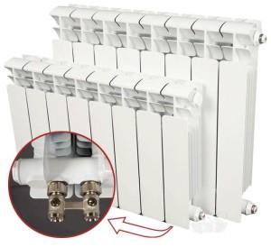 Место соединения радиатора с трубой