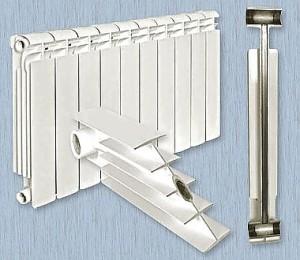 Радиатор с алюминия и стали