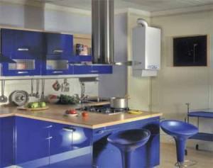 Настенный котел на кухне