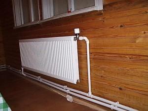 Соединение труб с радиатором
