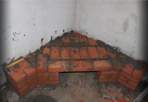 Выводим форму дымохода для камина