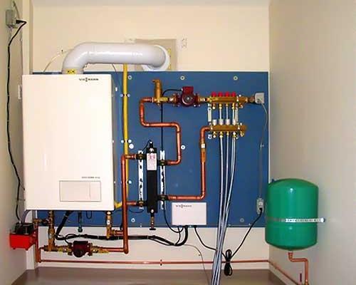 Схема установки газовых котлов