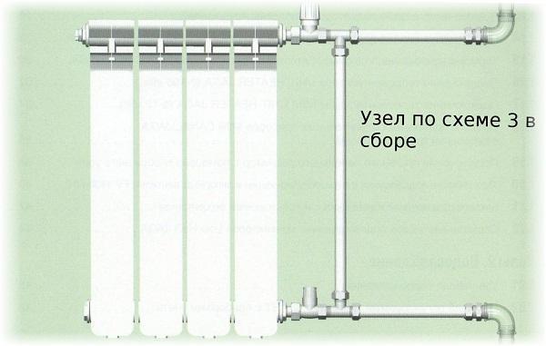 Верхнее подключение радиатора