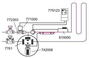 Подключение регулирующего двухходового клапана