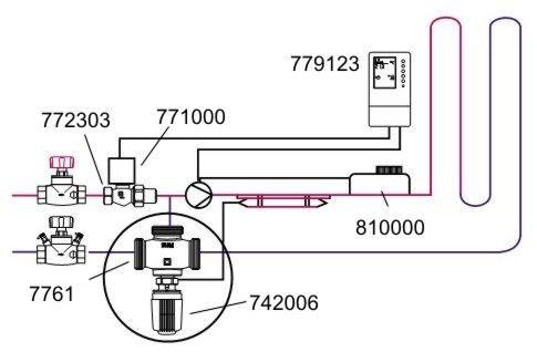 Клапан трехходовой — схема