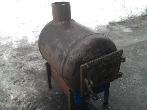 Печка для бани из буржуйки своими руками