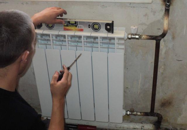 Боковое подключения радиатор