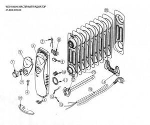 Деталировка масляного радиатора