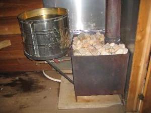 Установлена и рабочая печка