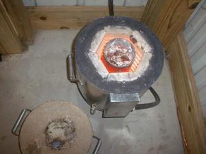 Печь муфельная круглая