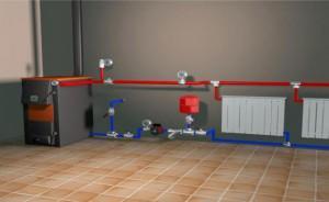 Схема отопления на твердотопливном котле