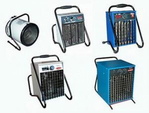 Виды обогревателей с вентилятором