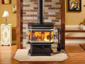Современная железная печь-камин буржуйка