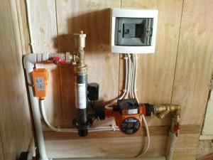Установка электродного отопительного оборудования