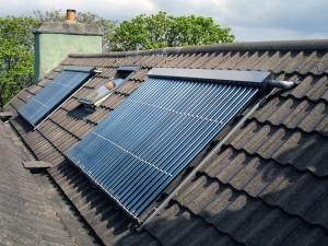 Солнечные коллекторы на крыше