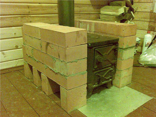 полиэстера можно ли обложить железную печь кирпичом в гараже выбору