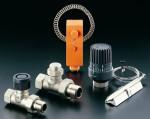 Регулировочные вентили и кран для батареи отопления