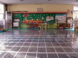 Теплый пол детского сада