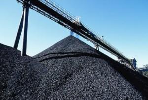 Уголь на складе