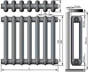 Приборы отопительные МС-140М2