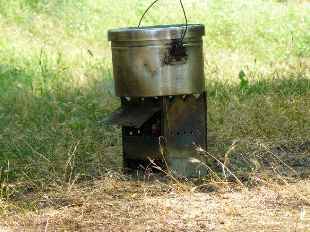 Как сделать походную печь своими руками