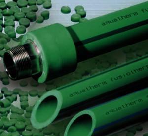 Зеленые трубы готовы для монтажа