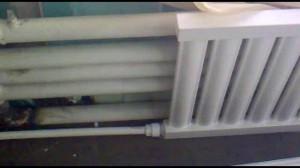 Подсоединение трубы к радиатору