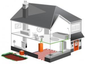 Схема монтажа отопительной системы