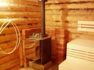 Керамический дымоход Шидел в парной